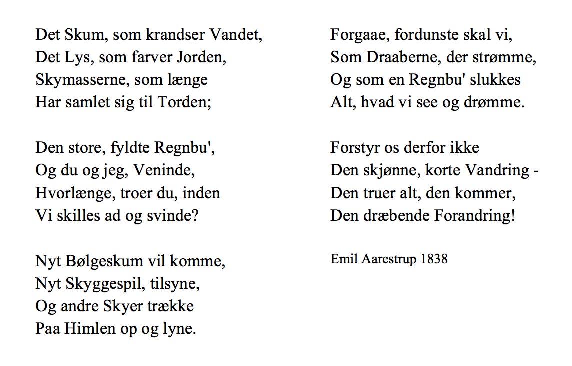 Emil Aarestrup digt