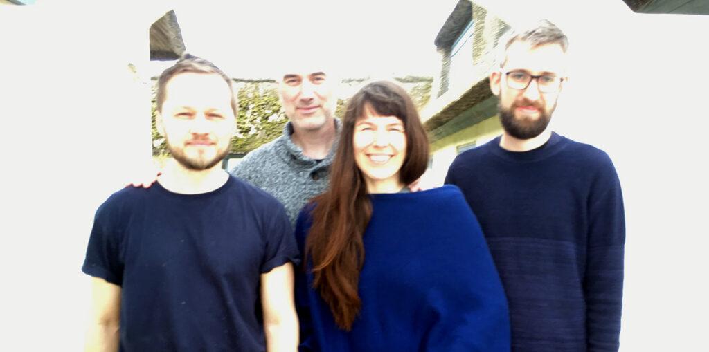 Kærlige hilsner fra påsketeamet; Mikkel, Martin, Hanneli og Tue. Foto: Anne Kristine Kongerslev
