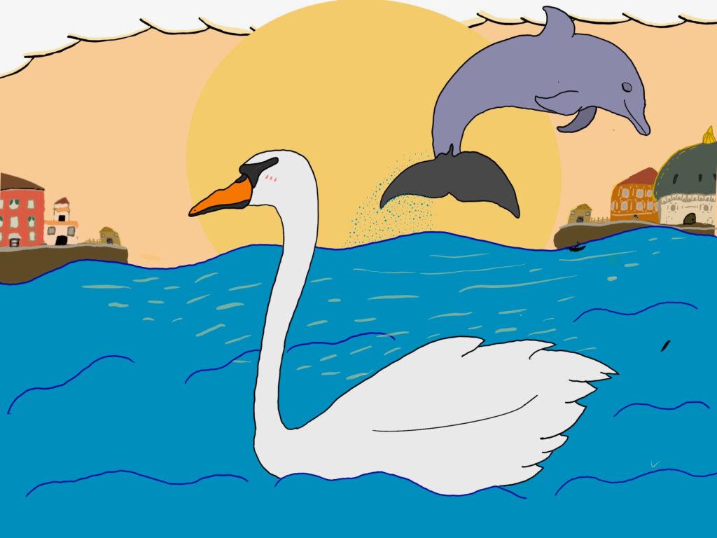Svaner i Venedig